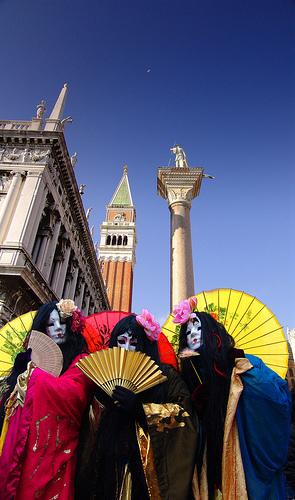 Carnaval de Venecia: detrás de la Plaza de San Marcos.