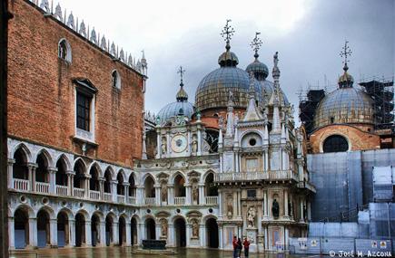 Guía de Venecia: Basilica de San Marcos desde el Patio del Palacio Ducal